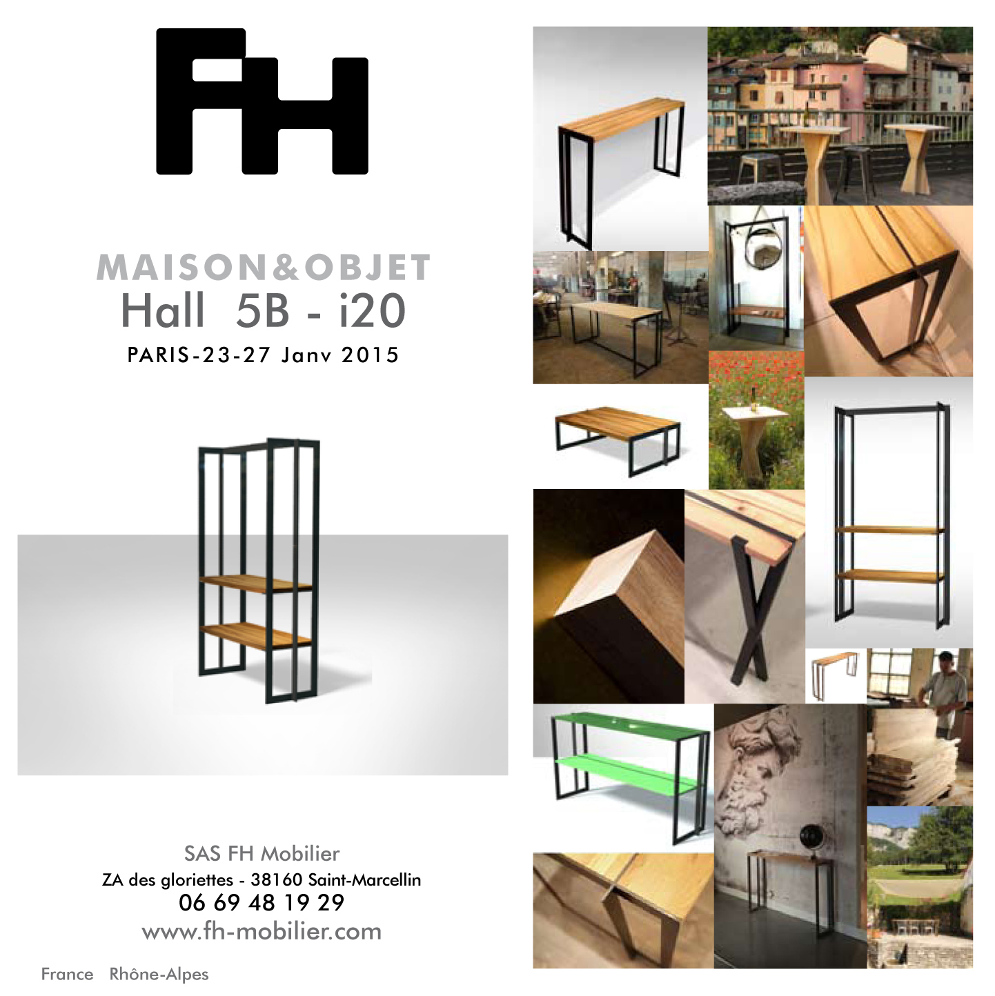 maison objet paris 23 27 janvier 2015 fh mobilier. Black Bedroom Furniture Sets. Home Design Ideas